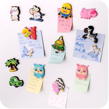 3Pcs/lot Cute Creative Animal Stickers Cartoon Silicone Early Education Sticker Memo Pads Sticky Notes School Supplies