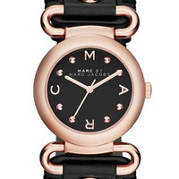 Women's MARC BY MARC JACOBS 'Small Molly' Leather Strap Watch, 30mm