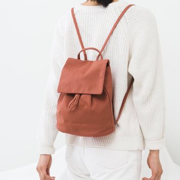 Canvas Mini Backpack | Terracotta