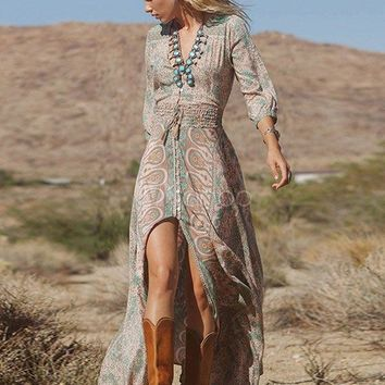 Boho Summer Casual Long Maxi Dress