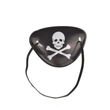 1PCS Pirate Eye Patch Eye Mask Eyeshade Cover Plain For Adult Lazy Eye Amblyopia Skull Eye Patch For Practical Jokes Toy