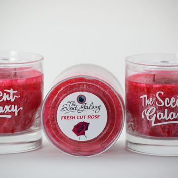 Fresh Cut Rose Fragrance in Palm Wax , Highly Scented Candle