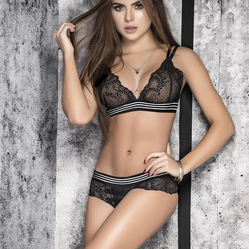 Sheer Lace Bra and Panty Set