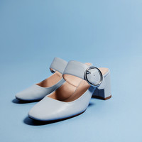 BUCKLED BLOCK HEEL SHOES - View all-SHOES-WOMAN | ZARA United Kingdom