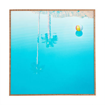 Bird Wanna Whistle By The Pool Framed Wall Art