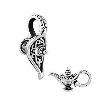 QueenCharms Aladdins Magic Lamp Charm Lucky Genie Lamp Beads For Bracelets