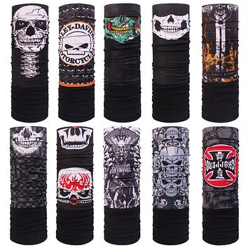 Skull fleece polar bandana autumn winter thermal thicken skull Polar Bandana outdoor magic muffler scarf Fleece face mask