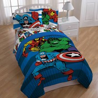 "Marvel® Comics ""Good Guys"" Twin/Full Reversible Comforter"