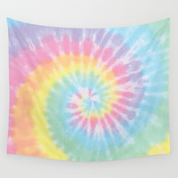 Pastel Tie Dye Wall Tapestry by Kate & Co.