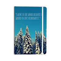 "Robin Dickinson ""I Went to the Woods"" Blue White Everything Notebook"
