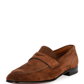 Brent Suede Penny Loafer, Brown