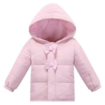 Fashion Autumn Winter Baby Girl Soft Clothing Infant Bebe Girl Coat Pink Cotton Jackets Clothes Newborn Bebe Outerwear