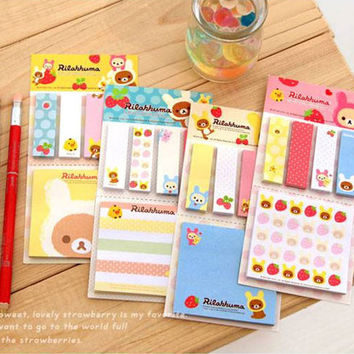 New kawaii Korean sticky note, Cute office school home funny sitck memo, for DIY scrapbook, notebook, wall deco