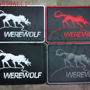 Metal Gear Solid MGS Private Military Companies PMCs USA Werewolf 3D PVC patch