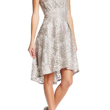 Eva Franco | Samantha Metallic Flower Embroidered Dress | Nordstrom Rack