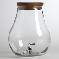 7-Liter Glass Teardrop Tank - World Market