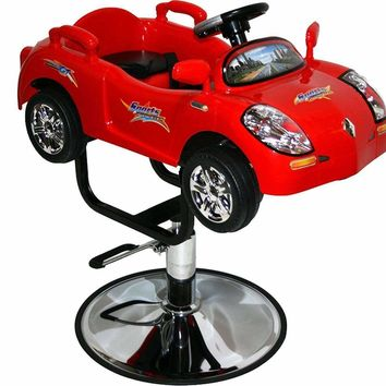 Kids Hair Styling Chair Hydraulic Red Sports Car