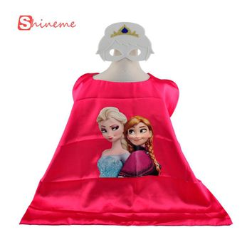 Halloween costume minions anna elsa cosplay children superhero capes and masks for kids super hero cape cloak set