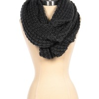 Chunky Infinity Scarf in Charcoal