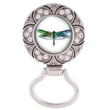 Chunk Snap Charm Magnetic Eyeglass Holder for Standard Snaps Includes Dragonfly Snap Charm