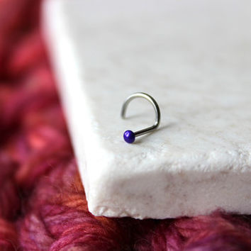 indigo nose stud, 18g or 20g