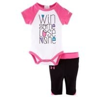 Under Armour Girls' Newborn UA Win Some Lose None Capri Set