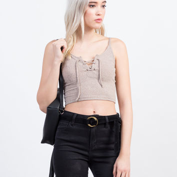 Cami Lace Up Top