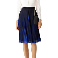 Waverly Grey Black and Blue Pleated Skirt