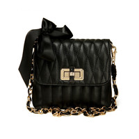 Pretty Bows Bag with Chain Strap from Hallomall
