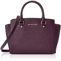Michael Kors Selma Satchel Saffiano Leather