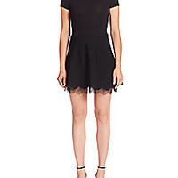RED Valentino - Lace Hem Fit-&-Flare Dress - Saks Fifth Avenue Mobile