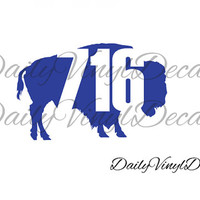 716 Buffalo NY Vinyl Decal *Choose Size & Color* Buffalo New York Vinyl Sticker - Queen City Western New York WNY Buffalo Bills Sabres