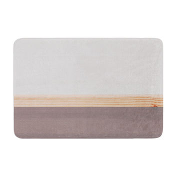 "KESS Original ""Spring Swatch - Grey"" Gray Wood Memory Foam Bath Mat"