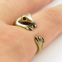 Gold Frog - Animal Wrap Ring