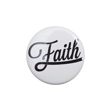 Faith White Button
