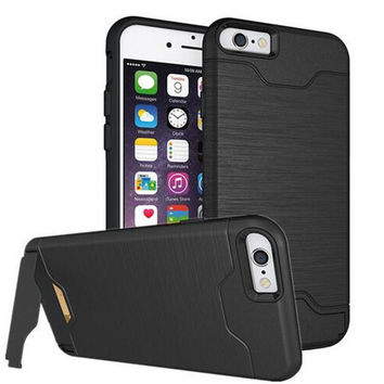 Case For iphone 6 6s 6plus 6s plus Armor Cover For iphone 7 Case Soft TPU & Hard PC Fundas Invisible Card Slot Phone Accessories