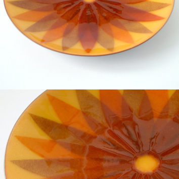 Vintage Mid Century Enamel Plate by Annemarie Davidson Enamel on Copper