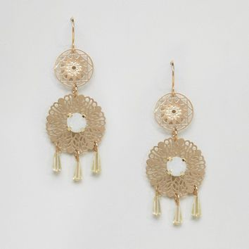 ASOS Double Filigree Drop Earrings at asos.com