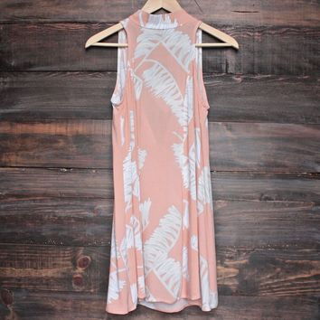 jungle fever dress - peach