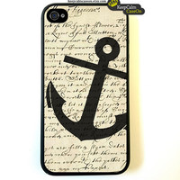 iPhone 4 Case, Vintage Anchor Case Hard Fitted Case For iphone 4 & iphone 4S.