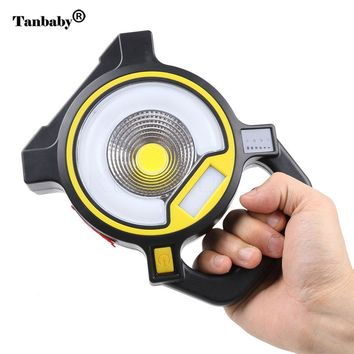 Tanbaby USB Rechargable Portable Hanging Lantern Lamp 4  Switch Modes 5W COB Light For Camping Reading Writing Bedroom