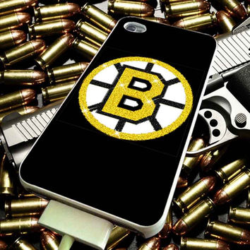 Boston Bruins Glitter for iPhone 4/4s/5/5s/5c/6/6 Plus Case, Samsung Galaxy S3/S4/S5/Note 3/4 Case, iPod 4/5 Case, HtC One M7 M8 and Nexus Case ***