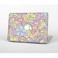 The Subtle Abstract Flower Pattern Skin Set for the Apple MacBook Pro 15""