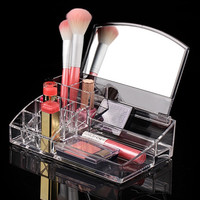 Women's Acrylic Makeup Cosmetics Clear Holder  Multifunctional Jewelry Organizer