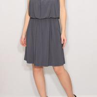 Gray bridesmaid dress Short grey dress Spaghetti strap dress