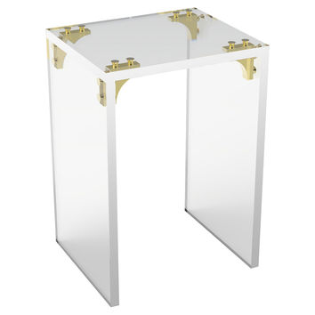 Parisienne Side Table, Small, Acrylic / Lucite, Standard Side Tables