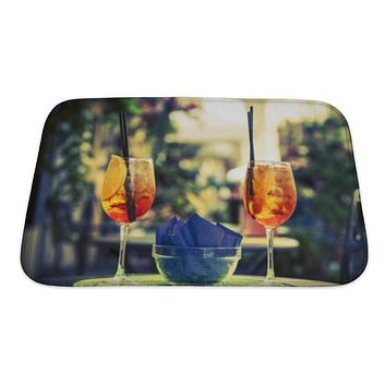 Bath Mat, Rome Aperol Spritz Cocktail Alcoholic Beverage Based On Table