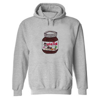 nutella Hoodie Sweatshirt Sweater Shirt Gray and beauty variant color  for Unisex size