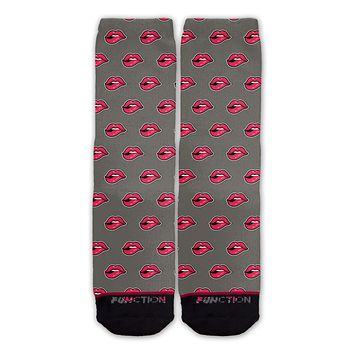 Function - Lips Pattern Fashion Sock