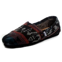 Toms - Womens Slip-On Black Jacquard Shoes, Size: 8 B(M) US, Color: Black Jacquard